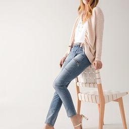 Mid-Rise Studded Skinny Ankle Jeans | White House Black Market