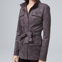 Belted Faux-Suede Jacket | White House Black Market