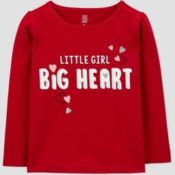 Toddler Girls' Valentine's Day Big Heart T-Shirt - Just One You® made by carter's Red | Target