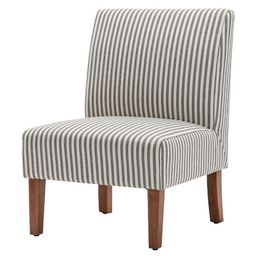 eLuxury Armless Striped Accent Chair | Target