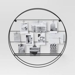 """18"""" Round Multiple Photos Holder with Shelf Black - Project 62™ 