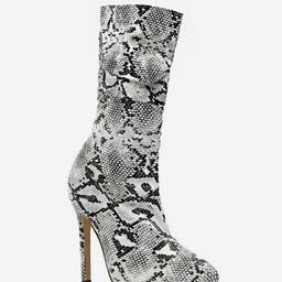 Sexy Snakeskin Print Stiletto Heel Mid Calf Boots   ZAFUL (Global)