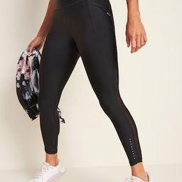 High-Waisted Elevate Powersoft Side-Pocket 7/8-Length Run Leggings for Women | Old Navy (US)