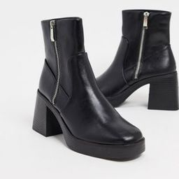 RAID Leonore chunky ankle boots in black | ASOS (Global)