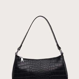 Crocodile Baguette Bag | SHEIN