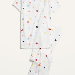 Gender-Neutral Snug-Fit Printed Pajama Set for Kids | Old Navy (US)