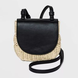 Magnetic Closure Straw Flap Crossbody Bag - A New Day™ | Target