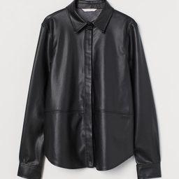 Faux Leather Shirt   H&M (US)