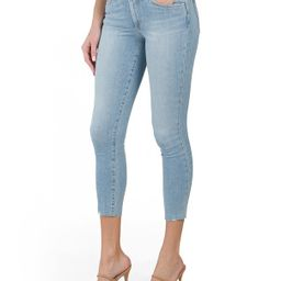 The Icon Cropped Jeans With Cut Hem | TJ Maxx