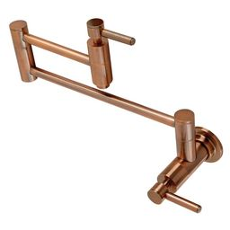 Kingston Brass Concord Wall Mounted Pot Filler in Antique Copper   The Home Depot