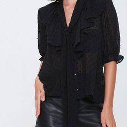Sheer Clip Dot Top in Black Small | Forever 21 (US)