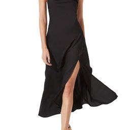 Women's Astr The Label Cowl Slip Midi Dress, Size X-Small - Black | Nordstrom