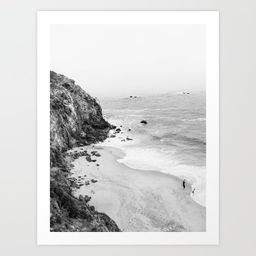 CALIFORNIA COAST III / Malibu Art Print | Society6