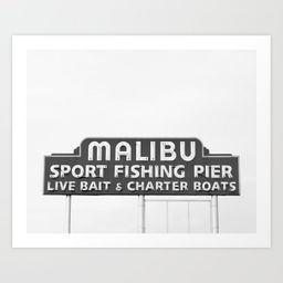 Malibu California Art Print | Society6