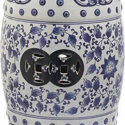 Safavieh Tao Ceramic Decorative Garden Stool, Blue and White   Amazon (US)