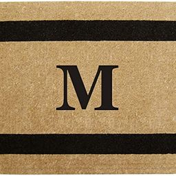 """Heavy Duty 22"""" x 36"""" Coco Mat Black Single Picture Frame, Monogrammed M   Amazon (US)"""