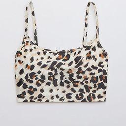 Aerie Leopard Longline Scoop Bikini Top | American Eagle Outfitters (US & CA)