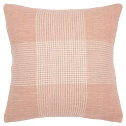 """20""""x20"""" Oversize Plaid Poly Filled Square Throw Pillow - Rizzy Home 