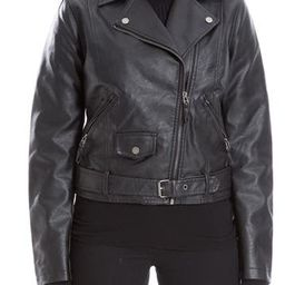 Faux Leather Crop Moto Jacket   Hautelook