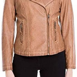 womens Faux Leather Jacket   Amazon (US)