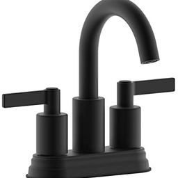 """Derengge F-S4501-MT 4"""" Two Handle Contemporary Lavatory Faucet with Push up Pop-up Drain, Meets c... 