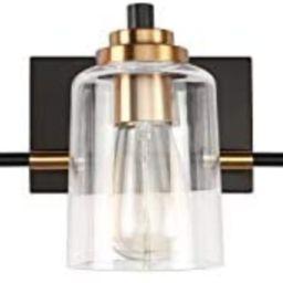SOLFART 3 Head Vintage Bath Vanity Light Wall Decor Bathroom Over Mirror Modern Glass Shade Light... | Amazon (US)