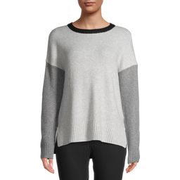 Time and Tru Women's Colorblock Super Soft Pullover Sweater | Walmart (US)