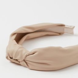 Alice band in imitation leather with a decorative knot on top. | H&M (UK, IE, MY, IN, SG, PH, TW, HK, KR)