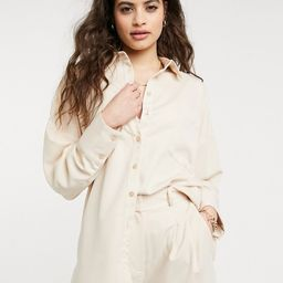 Style Cheat oversized pocket shirt in cream - part of a set   ASOS (Global)