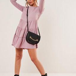 Blush Chiffon Tiered Smock Dress | Missguided (US & CA)
