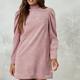 Blush High Neck Cord Shift Dress | Missguided (US & CA)