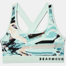 Women's Armour® Mid Crossback Print Sports Bra | Under Armour (CA)
