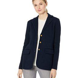 LAUREN Ralph Lauren Knit Sweater Blazer (Lauren Navy) Women's Clothing   Zappos