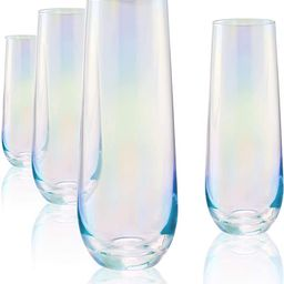 Circleware Radiance White Pearl Luster Stemless Champagne Flutes Glasses Set of 4 Elegant All-Pur...   Amazon (CA)