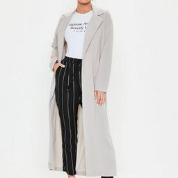 Grey Long Sleeve Maxi Duster Jacket   Missguided (US & CA)