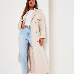 Stone Maxi Trench Coat   Missguided (US & CA)