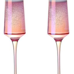 Meichu Modern Champagne Flutes Set of 2,Lead Free Crystal Champagne Glasses, Hand Blown Champagne...   Amazon (CA)