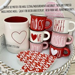 Valentines Day Mini Mugs 2.4oz and Big Mugs 12.85oz  | Etsy | Etsy (US)