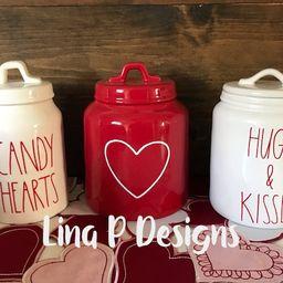 Rae Dunn valentine inspired Farmhouse Happy Valentines Day | Etsy | Etsy (US)