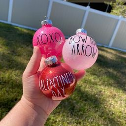 Rae Dunn Inspired Valentine's Day Ornaments for Tree | Etsy | Etsy (US)