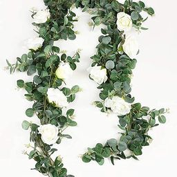 Aonewoe Eucalyptus Artificial Garland 6.5Ft Realistic Greenery Garland with Flowers Table Runner ...   Amazon (CA)