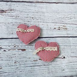 Valentine's Day Hearts Farmhouse Fabric Hearts | Etsy | Etsy (US)