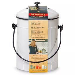 Behrens Small 1.5gal Galvanized Compost Can - White   Target