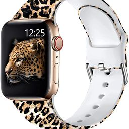 Muranne Cheetah Print Bands Compatible with Apple Watch Band SE 40mm 38mm iWatch Series 6 5 4 3 2... | Amazon (US)