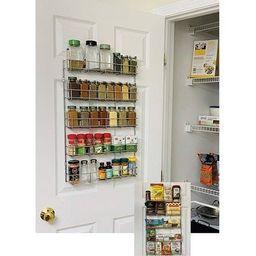 Evelots Spice Rack-5 Shelves-Wall/Door Mount-No Rust-Easy Clean-Up to 40 Bottles - Set of 1 (Set of  | Overstock