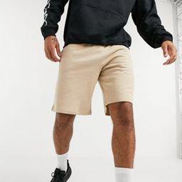 ASOS DESIGN oversized jersey shorts in beige   ASOS (Global)