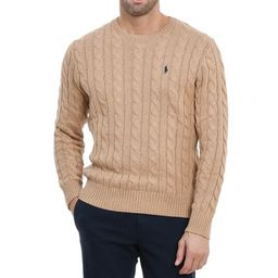 Polo Ralph Lauren Logo Cable Knit Sweater | Cettire Global