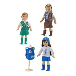 18-inch Doll Clothes Value Pack - 3 Girl Scout Inspired Uniforms, Including Daisy, Brownie and Junio | Walmart (US)