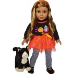 Boo Outfit Fits American Girl Dolls Includes Tuxedo Cat Azrael -18 Inch Doll Clothes | Etsy (US)