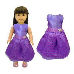 Doll Clothes - Beautiful Purple Dress with Dots Outfit Fits American Girl Doll, My Life Doll and 18  | Walmart (US)
